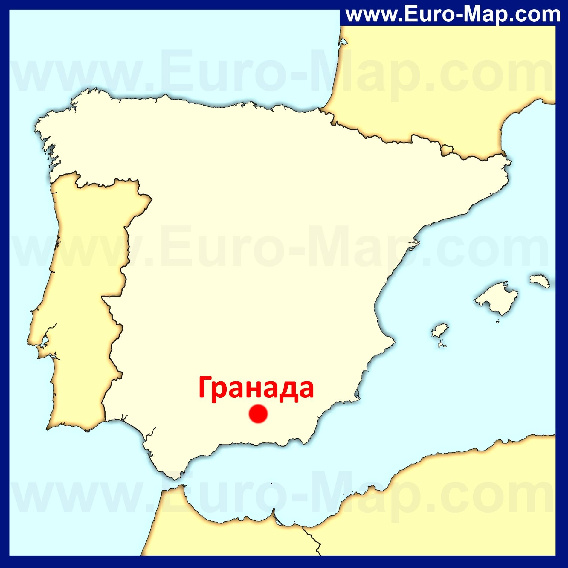 гранада испания на карте задумываться особенно том