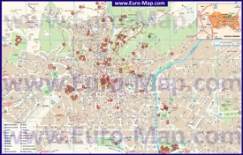 Подробная карта города Гранада