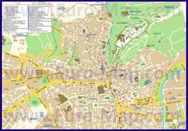 Туристическая карта Гранады с отелями
