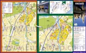 Подробная карта города Жирона