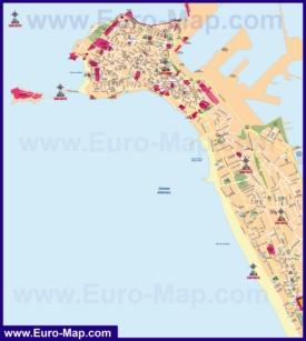 Подробная карта города Кадис