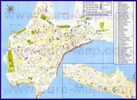 Туристическая карта Кадиса с отелями и достопримечательностями