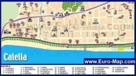 Карта Калельи с отелями