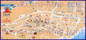 Карта достопримечательностей Кальпе