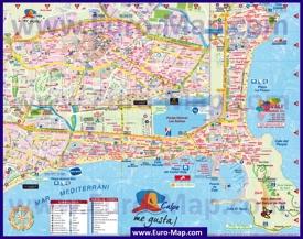 Подробная туристическая карта города Кальпе