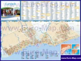Подробная туристическая карта города Камбрильс