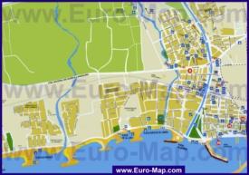 Туристическая карта Камбрильса с достопримечательностями