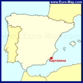 Картахена на карте Испании