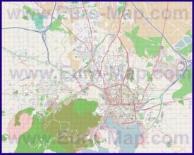 Подробная карта города Картахена