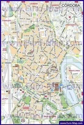 Карта города Кордова