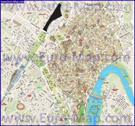 Подробная туристическая карта Кордовы с достопримечательностями