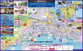 Туристическая карта Коста-Адехе с отелями