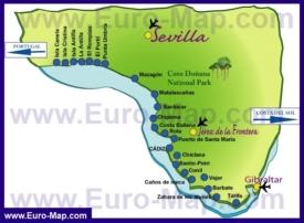 Карта Коста-де-ла-Луз с курортами