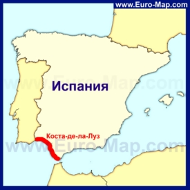 Коста-де-ла-Луз на карте Испании