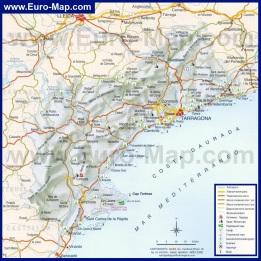 Карта Коста-Дорады с отелями