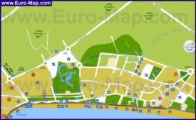 Подробная туристическая карта города Ла Пинеда