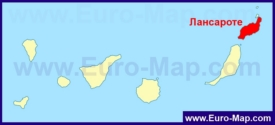 Остров Лансароте на карте Канарских островов