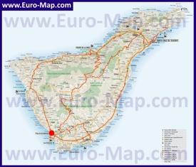Лас-Америкас на карте Тенерифе