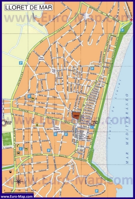 Карта города Ллорет-де-Мар