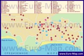 Карта отелей Ллорет-де-Мара