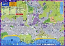 Туристическая карта Ллорет-де-Мара с достопримечательностями