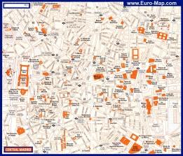 Карта центра города Мадрид с достопримечательностями