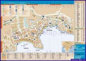 Подробная туристическая карта города Магалуф