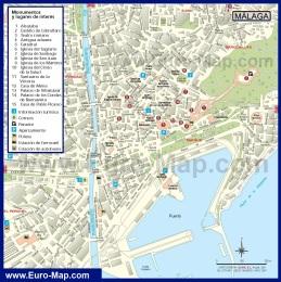 Подробная карта города Малага
