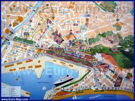 Туристическая карта Малаги с достопримечательностями