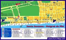 Туристическая карта города Мальграт-де-Мар с отелями