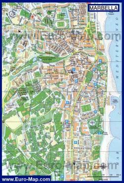 Подробная карта города Марбелья