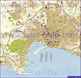 Подробная карта города Пальма-де-Майорка