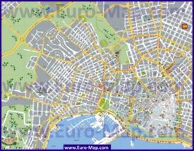 Туристическая карта Пальма-де-Майорки с пляжами