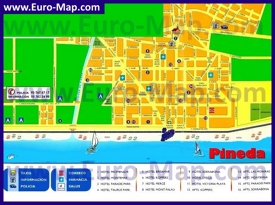 Карта отелей Пинеда-де-Мар
