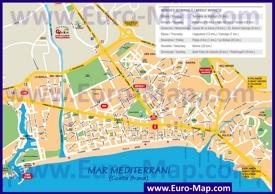 Туристическая карта Плайя-де-Аро