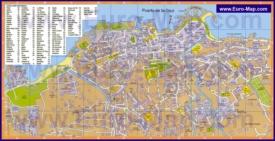 Карта аппартаментов и отелей Пуэрто-де-ла-Круз