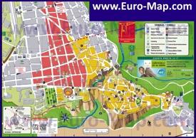 Подробная карта города Ронда с отелями и достопримечательностями
