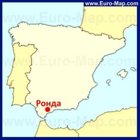 Ронда на карте Испании