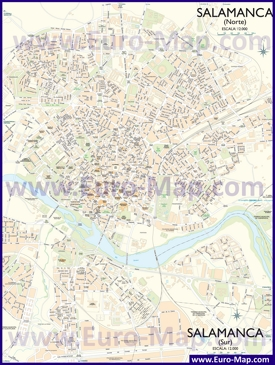 Подробная карта города Саламанка
