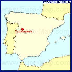 Саламанка на карте Испании