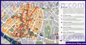 Туристическая карта Саламанки с достопримечательностями