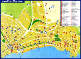 Карта отелей Салоу
