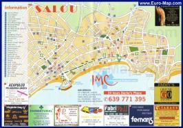 Туристическая карта Салоу с достопримечательностями