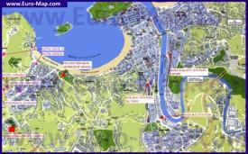 Подробная карта города Сан-Себастьян