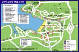 Карта отелей Санта-Понсы