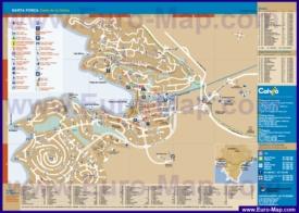 Подробная туристическая карта города Санта-Понса