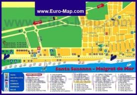 Карта отелей Санта-Сусанны