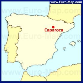 Сарагоса на карте Испании