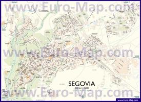 Подробная карта города Сеговия