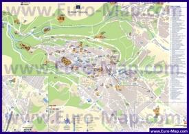 Туристическая карта Сеговии